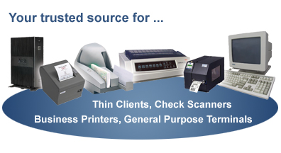 Check Scanners, Thin Clients, Business Printers, Document
